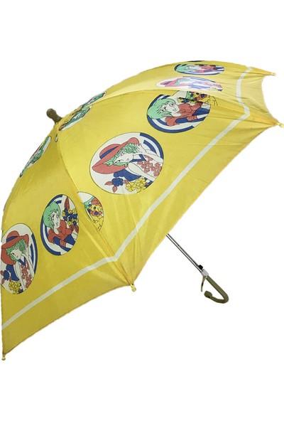 Balonpark Sarı Çocuk Şemsiyesi Kız Erkek Çocuk Şemsiye