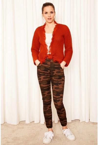 Freestar Yüksek Bel Paça ve Beli Lastikli Pantolon