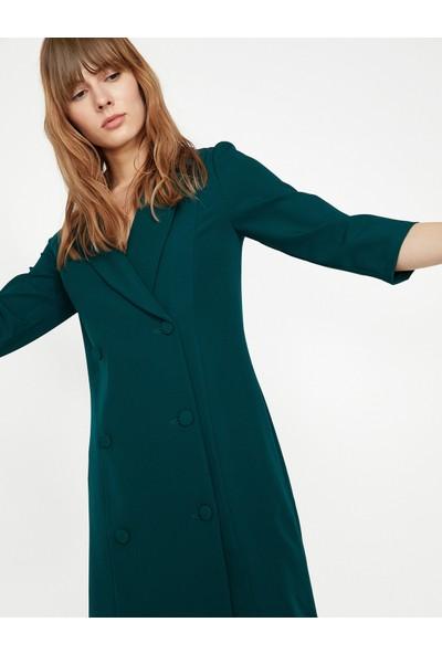 Koton Dügme Detaylı Elbise