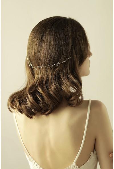 Gelinsacaksesuar Kristal Taşlı Gelin Saç Aksesuarı Zarif Model