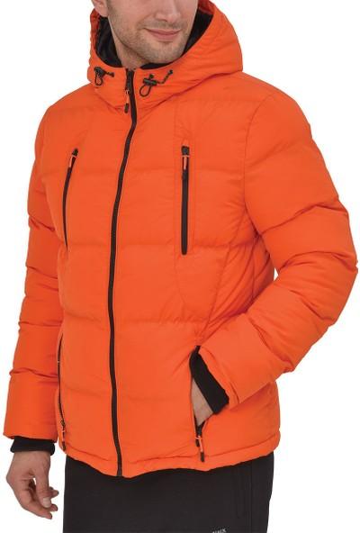 Lumberjack Gano Coat Turuncu Siyah Erkek Kısa Kaban