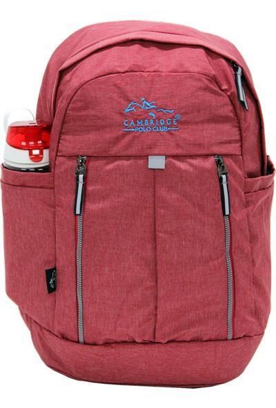 Cambridge Polo Club Plcan1669, Soft Sırt Çanta, Kırmızı