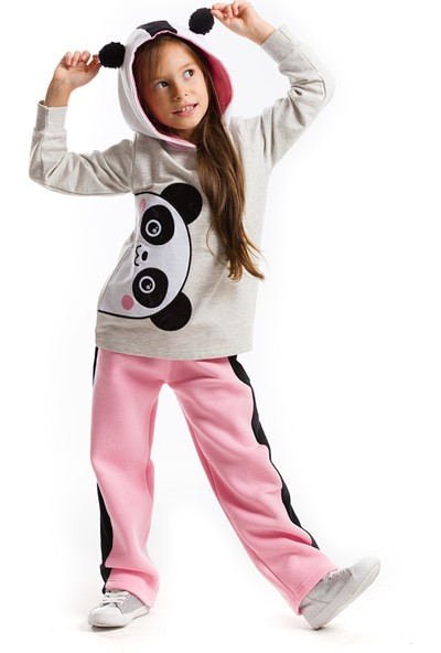 Denokids Panda Kulak Eşofman Takım