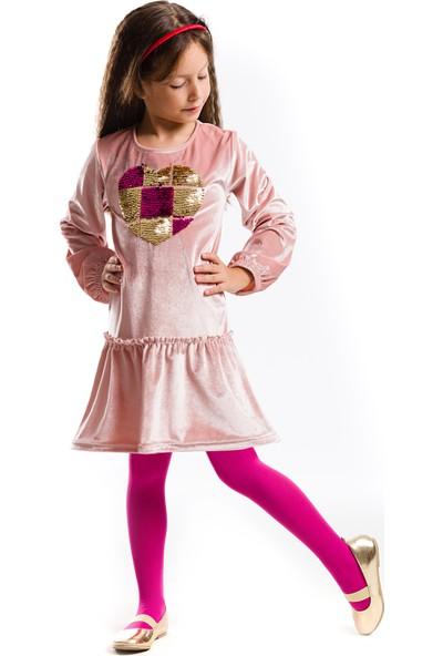 Mushi Kalbim Pırpır Kadife Elbise