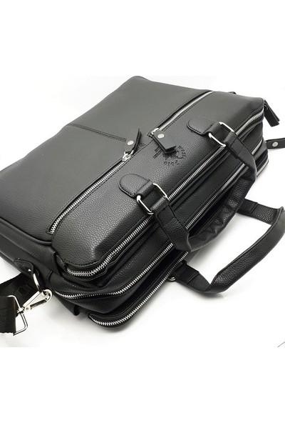 West Polo Clup Laptop Bölmeli 3 Gözlü Omuz Askılı Evrak Çantası