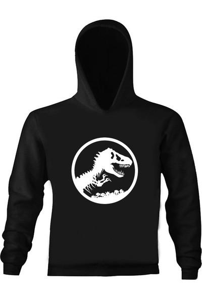 Art T-Shirt Jurassic Park Çocuk Kapüşonlu Sweatshirt