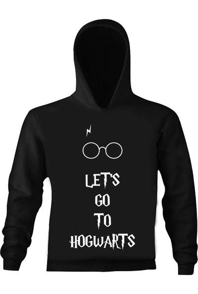 Art T-Shirt Harry Potter Hogwarts Çocuk Kapüşonlu Sweatshirt