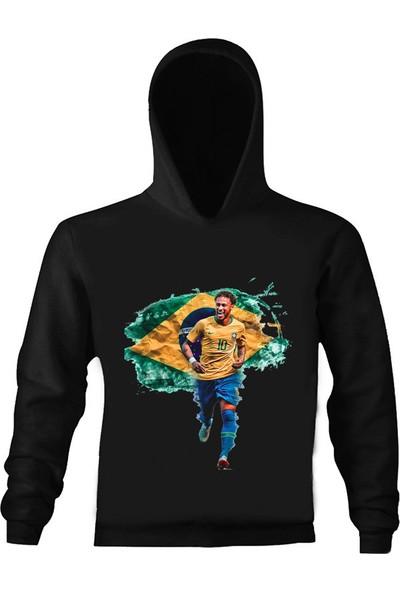 Art T-Shirt Neymar Çocuk Kapüşonlu Sweatshirt