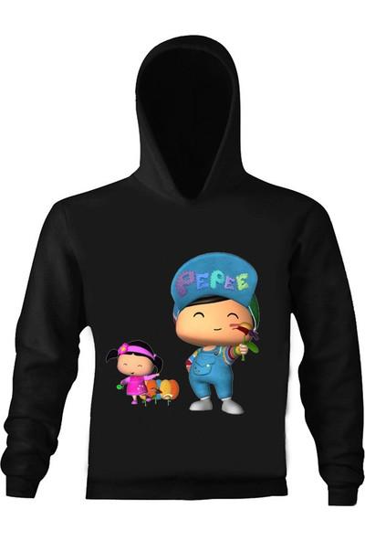 Art T-Shirt Pepee Çocuk Kapüşonlu Sweatshirt