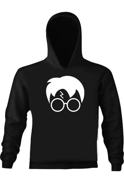 Art T-Shirt Harry Potter Face Çocuk Kapüşonlu Sweatshirt