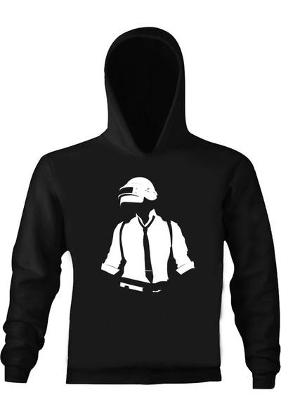 Art T-Shirt Pubg Çocuk Kapüşonlu Sweatshirt