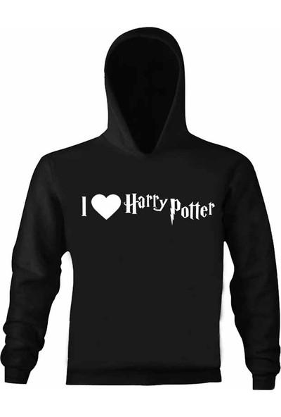 Art T-Shirt Harry Potter Love Çocuk Kapüşonlu Sweatshirt