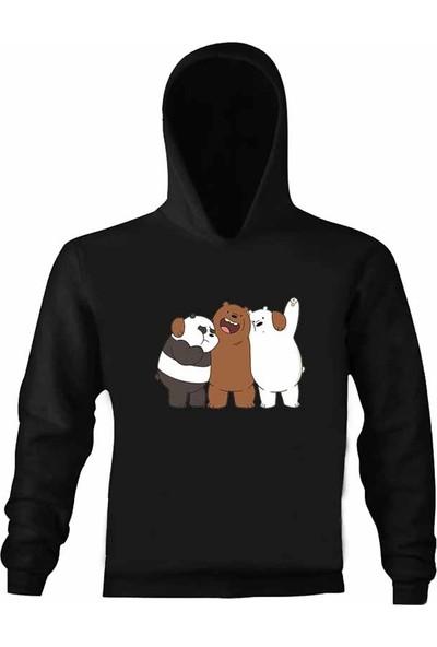 Art T-Shirt Kafadar Ayılar Çocuk Kapüşonlu Sweatshirt