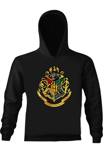 Art T-Shirt Harry Potter Hogwarts Logo Çocuk Kapüşonlu Sweatshirt