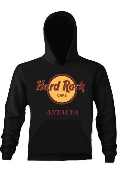 Art T-Shirt Hard Rock Cafe Antalya Unisex Kapüşonlu Sweatshirt