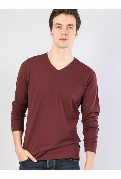 Colin's Bordo Erkek Tshirt U.kol