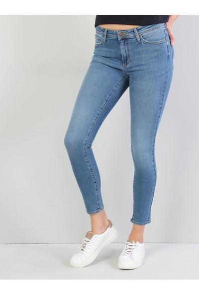 Colins 759 Lara Super Slim Fit Orta Bel Skinny Leg Kadın İndigo Jean Pantolon