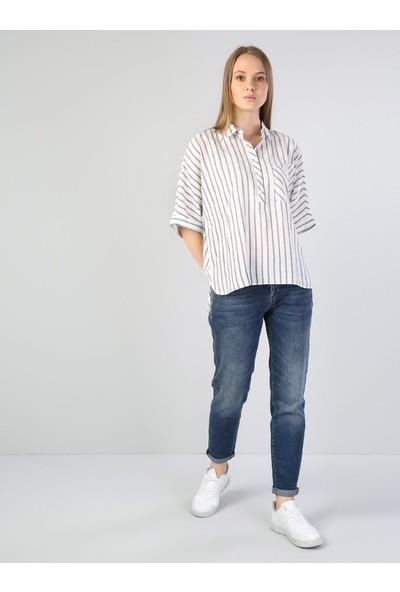 Colin's Beyaz Kadın Gömlek U.kol