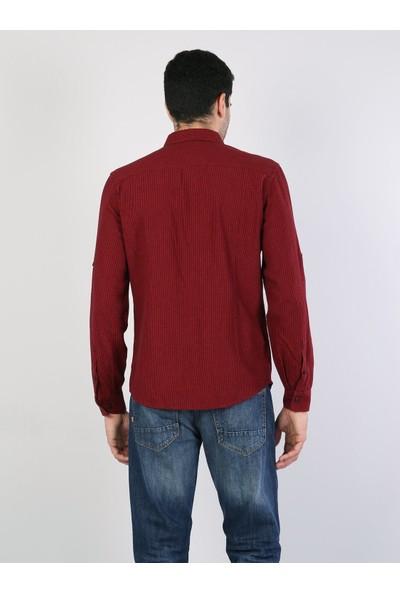 Colin's Kırmızı Erkek Gömlek U.kol