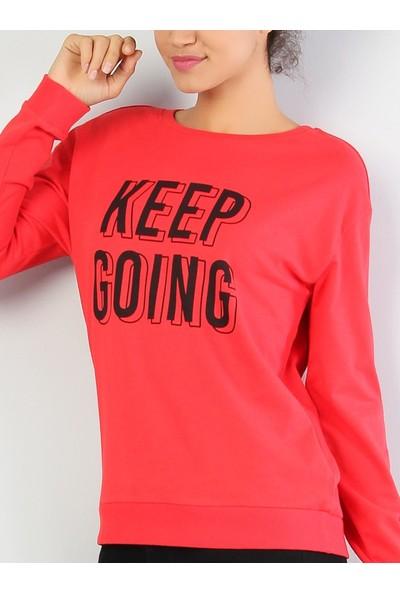 Colin's Kırmızı Kadın Sweatshirt
