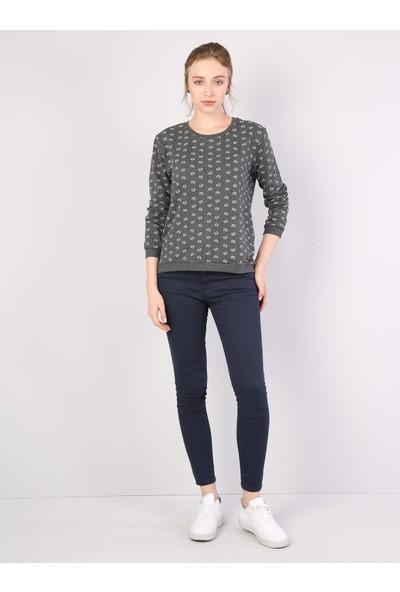 Colin's Antrasit Kadın Sweatshirt