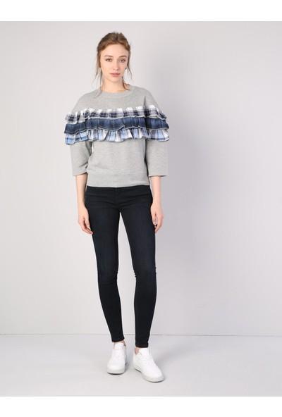 Colin's Gri Kadın Sweatshirt