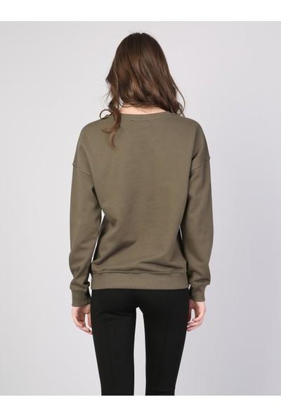 Colin's Haki Kadın Sweatshirt