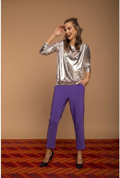 Cream&Rouge 18K199 Pantolon Yanı Biyeli