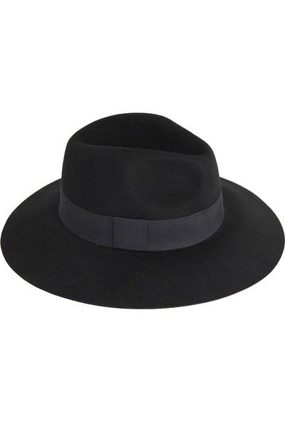 Bay Şapkacı Kadın Geniş Kenarlı Kaşe Şapka