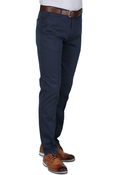 Buenza Ruby Sulfur Casual Slim Fit Pantolon - Lacivert