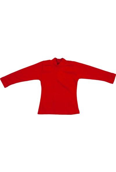 Nnk Balıkçı Yaka Basic Sweatshirt Kırmızı
