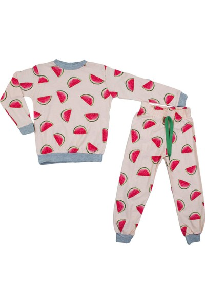 Bursa Kids Karpuz Desenli Somon Pijama Takımı