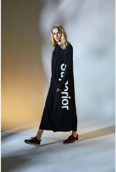 Latifa Superior Eşofman Elbise Siyah