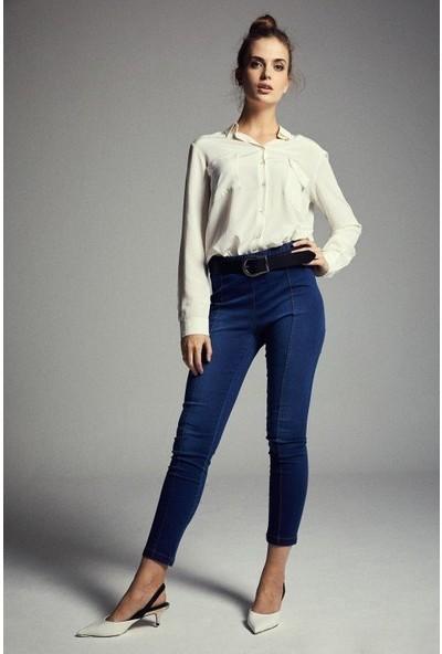 Latifa Denver Pantolon Kot Mavi