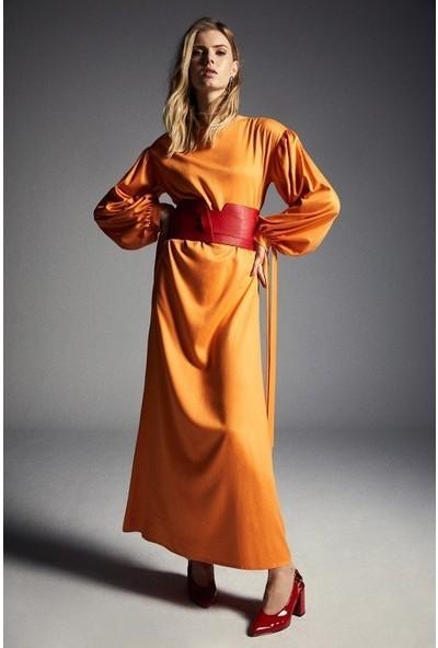Latifa Pure Elbise Turuncu