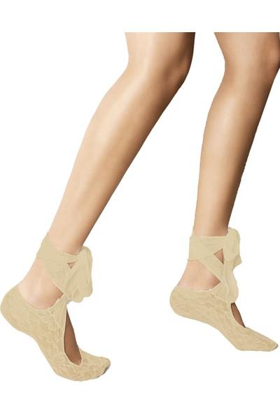 Veneziana Bej Bağlamalı Soket Çorabı BABETTE MARYLIN BEIGE