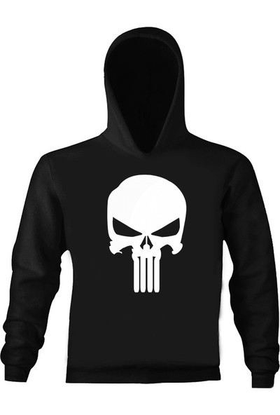 Art T-Shirt Punisher Çocuk Kapüşonlu Sweatshirt