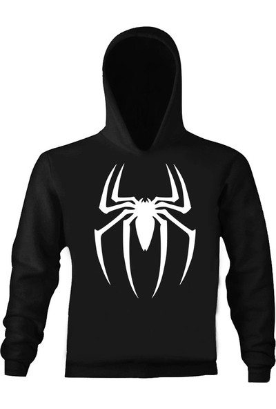Art T-Shirt Spider Çocuk Kapüşonlu Sweatshirt