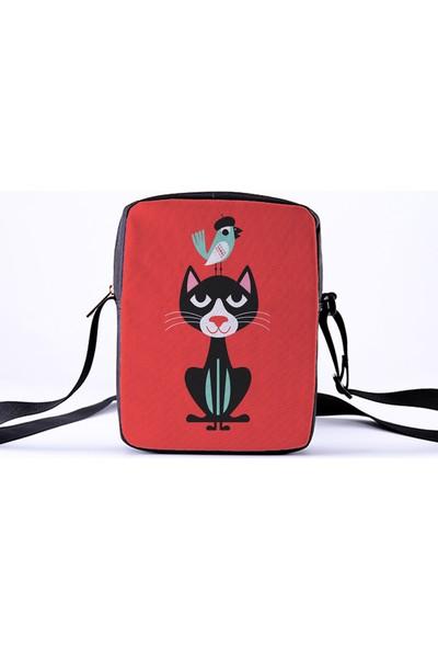 Bengü Accessories Kedi Tasarımlı Uzun Askılı Çanta
