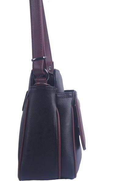 Noble Çapraz Askılı Kadın Çanta Siyah Bordo Rz1978