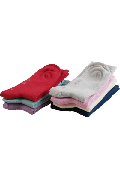 Dündar Modal Dikişsiz Soft Yumuşak 6 Adet Kız Çocuk Çorap 26-28 Numara