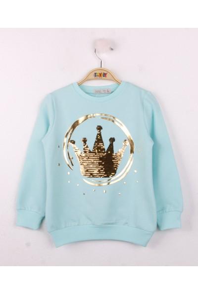 Toontoy Kız Çocuk Sweatshirt Pullu Taç Nakış K 25