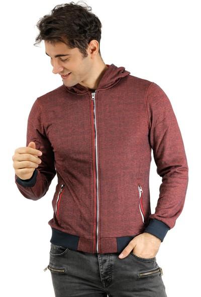 Phazz Brand 5207 Bordo Erkek Sweatshirt