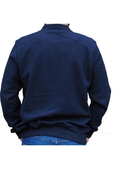 Pozzo Polo Yakalı Sık Örgü Kalın Erkek Sweatshirt
