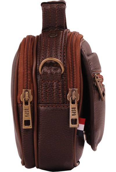 U.S. Polo Assn. El Ve Çapraz Askılı Erkek Cantası Kahve 8418