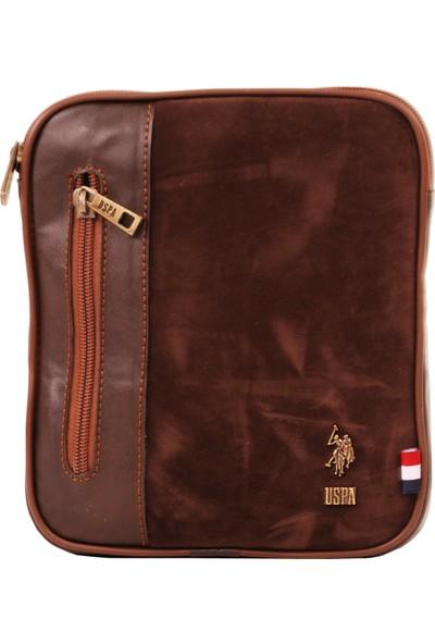 U.S. Polo Assn. Erkek Çantası Süet Kahve 6766