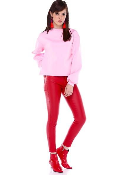 Gözde Öz Rosa Sweatshirt