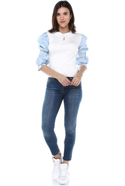 Turuncugardrop Kuş Gözü Bağcık Detay Skinny Jean