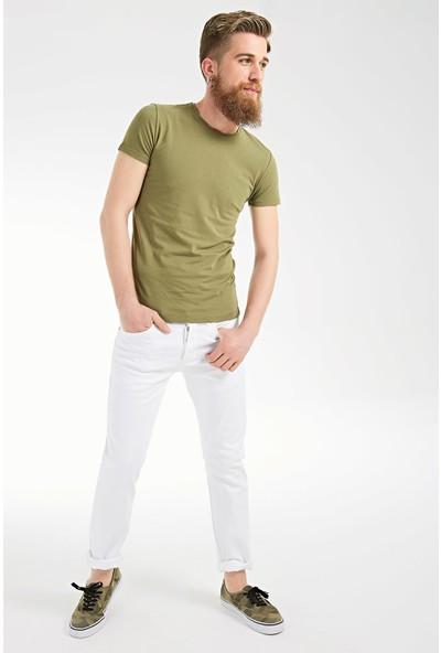 LTB Erkek Enrico White Bull Wash Pantolon