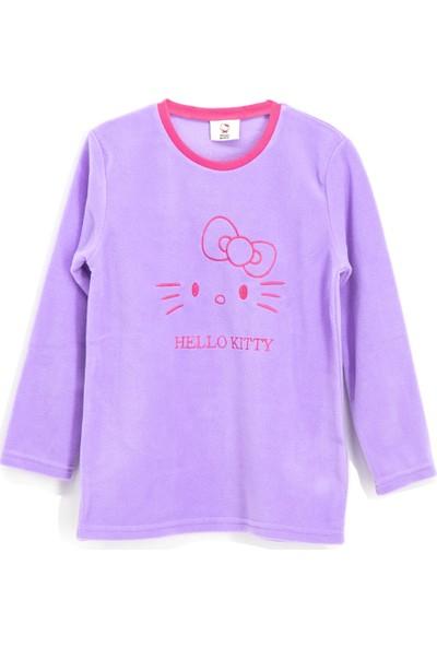 Hello Kİtty Lisanslı Polar Kız Çocuk Sweatshirt Lila